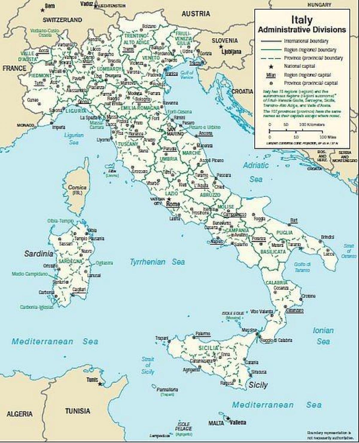 Mapa Mest Jizni Italie Mapa Italie Jizniho Mesta Jizni Evropa